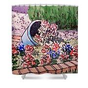 Flower Bed Sketchbook Project Down My Street Shower Curtain by Irina Sztukowski