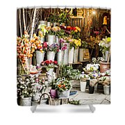 Flower Shop Shower Curtain by Heather Applegate