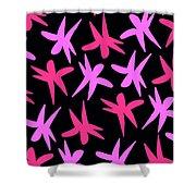 Flower Stars  Shower Curtain by Louisa Knight