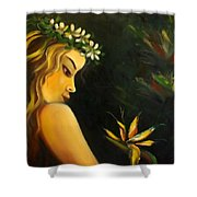 Flowers Of Paradise Shower Curtain by Gina De Gorna