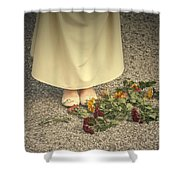 Flowers On The Street Shower Curtain by Joana Kruse