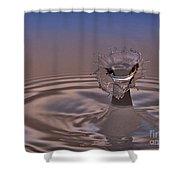 Fluid Flower Shower Curtain by Susan Candelario