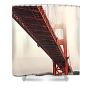 Fog Lifting At The Golden Gate Shower Curtain by Cheryl Young