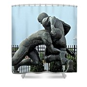 Football at Citizens Bank Park Shower Curtain by Alice Gipson
