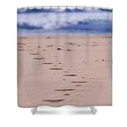 Footprints Shower Curtain by Michelle Wrighton