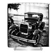 Ford Model T Film Noir Shower Curtain by Bill Cannon