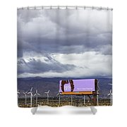 Forever Palm Springs Shower Curtain by William Dey
