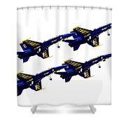 Formation Shower Curtain by Greg Fortier