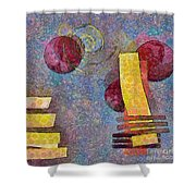 Formes - 08a Shower Curtain by Variance Collections