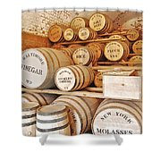 Fort Macon food supplies_9070_3759 Shower Curtain by Michael Peychich