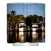 Fort Pierce Marina Shower Curtain by Trish Tritz