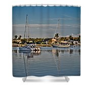 Fort Pierce Sweetness Shower Curtain by Trish Tritz
