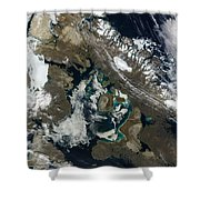 Foxe Basin, Northern Canada Shower Curtain by Stocktrek Images