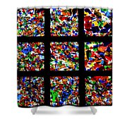 Fractured Squares Shower Curtain by Meandering Photography