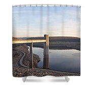 Francis E Walter Dam Shower Curtain by Bill Cannon