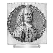 Francis Hutcheson Shower Curtain by Granger