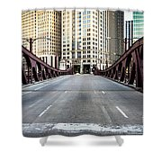 Franklin Orleans Street Bridge Chicago Loop Shower Curtain by Paul Velgos