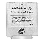 Franklin: Title Page, 1725 Shower Curtain by Granger