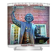 Frederick Douglass Shower Curtain by Brian Wallace