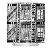 FREIGHT ELEVATOR, 1876 Shower Curtain by Granger