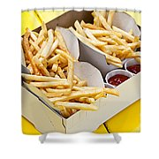 French Fries In Box Shower Curtain by Elena Elisseeva