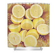 Fresh Lemons Shower Curtain by Amy Tyler
