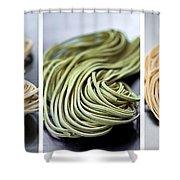 Fresh Tagliolini Pasta Shower Curtain by Elena Elisseeva