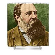 Friedrich Engels, Father Of Communism Shower Curtain by Photo Researchers