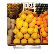 Fruit Market - Painterly - 7D17401 Shower Curtain by Wingsdomain Art and Photography