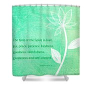 Fruit Of The Spirit Shower Curtain by Linda Woods