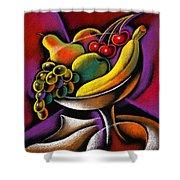 Fruits Shower Curtain by Leon Zernitsky