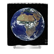 Full Earth Showing Africa And Europe Shower Curtain by Stocktrek Images