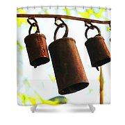 Garden Noah Bells 2 Shower Curtain by Cheryl Young
