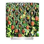 Garden Noah Bells Shower Curtain by Cheryl Young