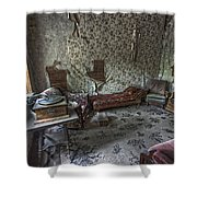 Garnet Ghost Town Hotel Parlor - Montana Shower Curtain by Daniel Hagerman