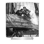 Gatling Gun, 1878 Shower Curtain by Granger