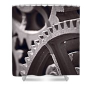 Gears Number 3 Shower Curtain by Steve Gadomski