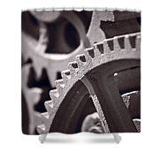 Gears Number 3 Shower Curtain by Steve Gadomski
