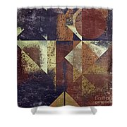 Geomix 04 - 6ac8bv2t7c Shower Curtain by Variance Collections