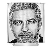 George Clooney In 2009 Shower Curtain by J McCombie