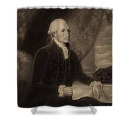 George Washington, 1st American Shower Curtain by Photo Researchers