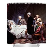George Washington On His Death Bed Shower Curtain by Photo Researchers