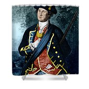 George Washington, Virginia Colonel Shower Curtain by Photo Researchers, Inc.