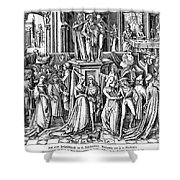 GERMANY: MEDIEVAL BALL Shower Curtain by Granger