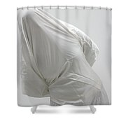 Ghost - Person Covered With White Cloth Shower Curtain by Matthias Hauser