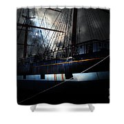 Ghost Ship of The San Francisco Bay . 7D14153 Shower Curtain by Wingsdomain Art and Photography