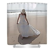 Gibbous Moon Gown Shower Curtain by Betsy C  Knapp