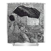 Gila Cliff Dwelings Big Room Shower Curtain by Jack Pumphrey