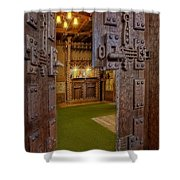 Gillette Castle's Bar Shower Curtain by Susan Candelario