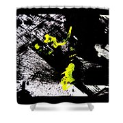 Girl And Her Cat Shower Curtain by Marie Jamieson